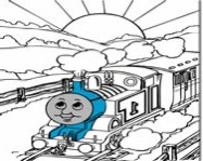 Thomas the tank engine online coloring ingyen j�t�k